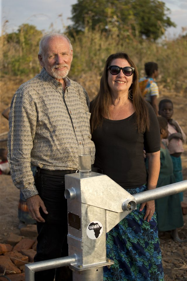 Legacy Church Members Paul and Rachel coming to dedicate the well funded by their church.